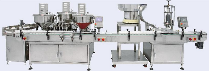 AUTOMATIC FILLING-CAPPING MACHINE